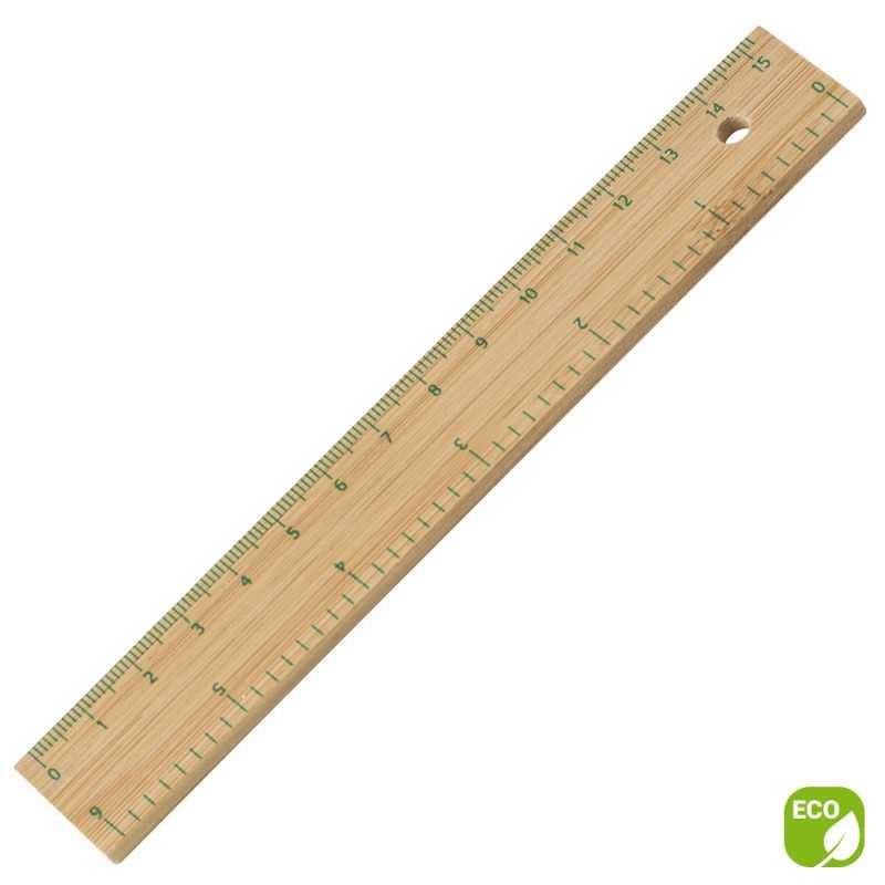 Règle publicitaire en bambou 15 cm - Willy