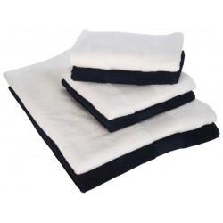 Serviettes de toilette blanc