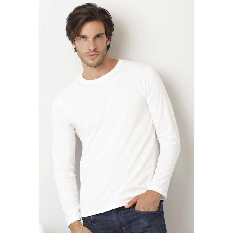 833b6d1c8253 Tee shirt publicitaire homme blanc avec manches longues LSL