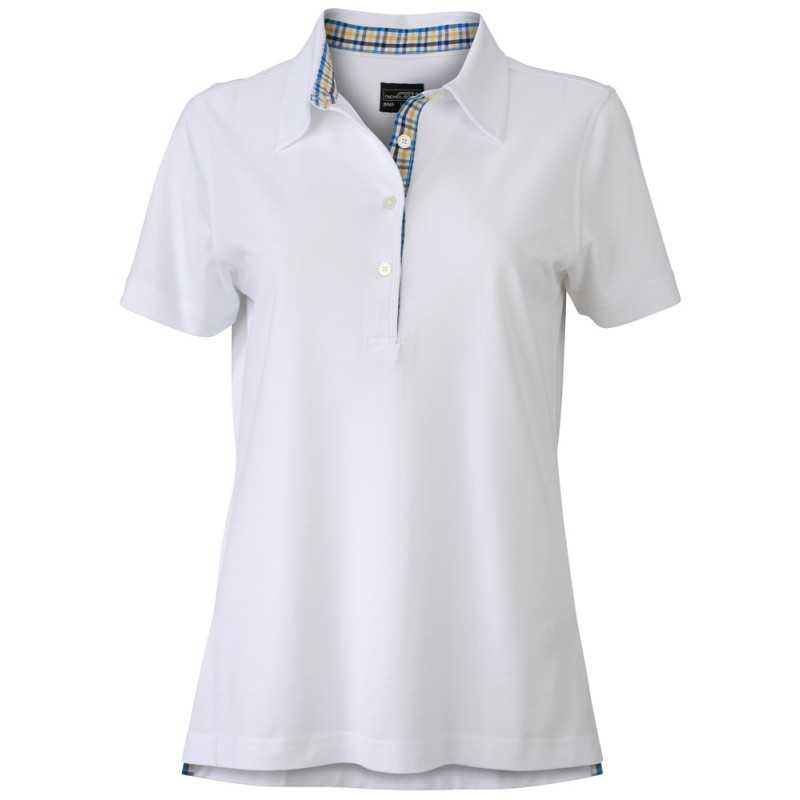 Polo publicitaire femme Inserts blanc