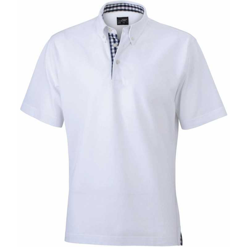 Polo publicitaire homme Inserts blanc