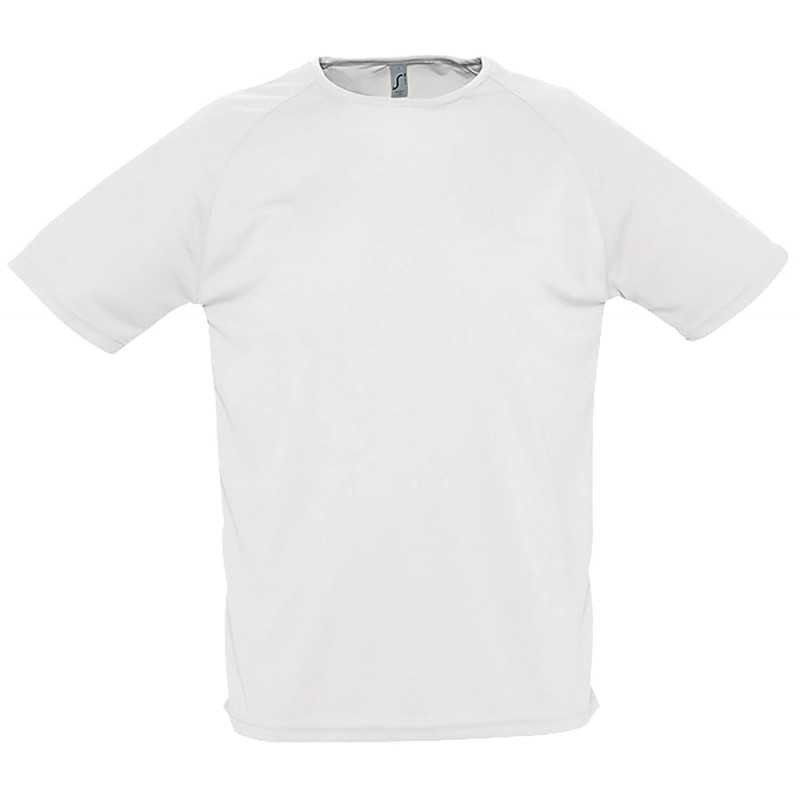 Tee shirt publicitaire homme Sporty Blanc