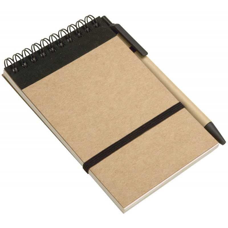 bloc notes  u00e0 spirales et stylo en mati u00e8re recycl u00e9e