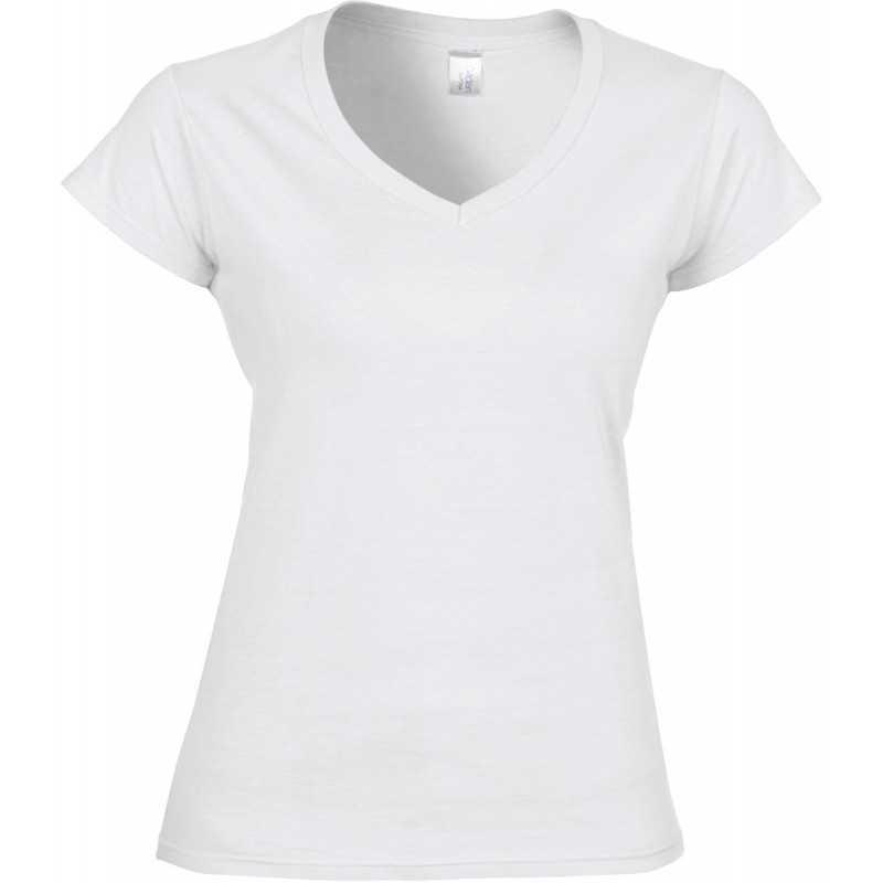 Tee shirt publicitaire femme V-neck