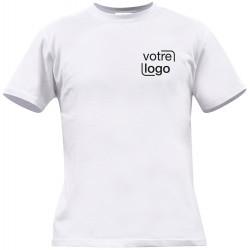 Lot de 100 tee-shirts publicitaires blancs