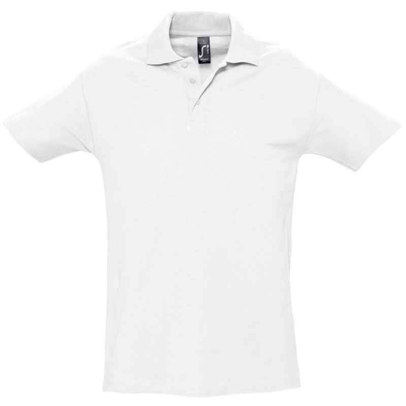 Polo publicitaire homme Spring blanc