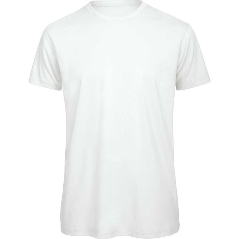Tee-shirt publicitaire blanc organic pour homme