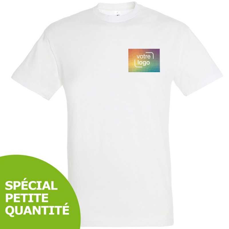 T-shirt publicitaire avec personnalisation en petite quantité