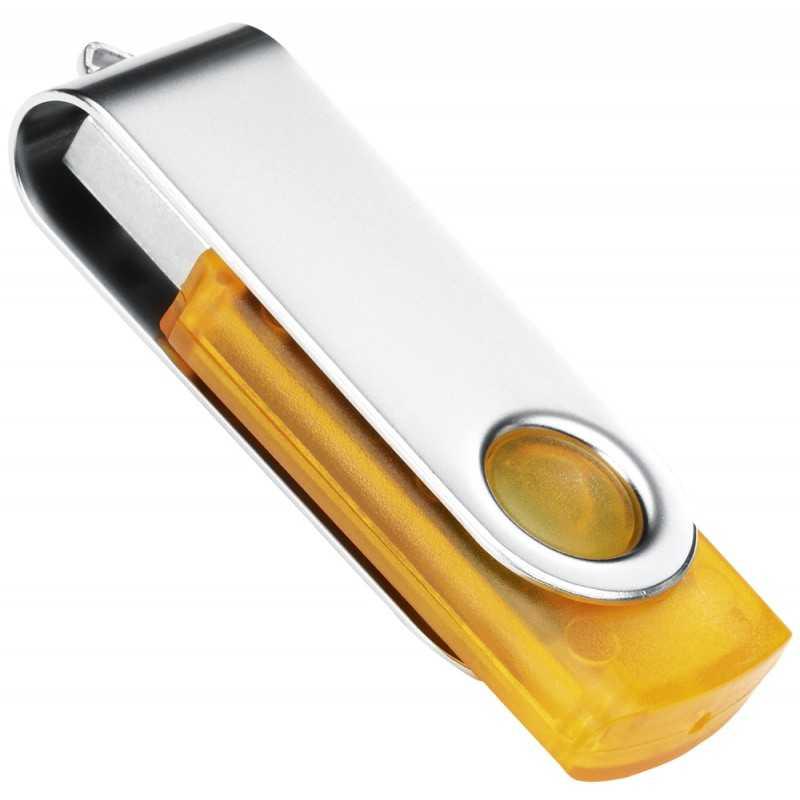 Clé USB personnalisée Transtech jaune 2 Go