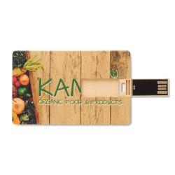 Clé USB personnalisée Carte de Crédit Paille 1 Go