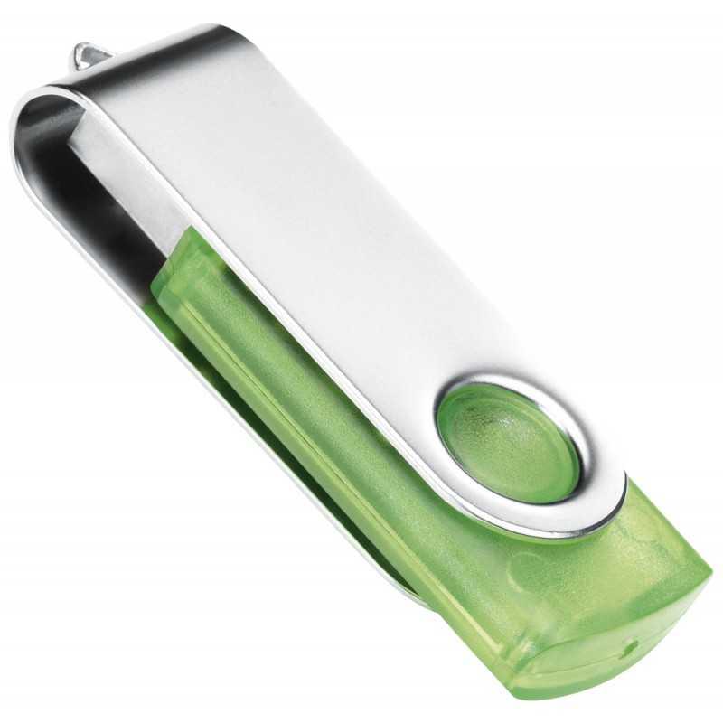 Clé USB personnalisée Transtech vert 1 Go