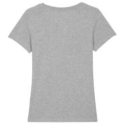 T-shirt publicitaire Expresser Femme Gris Chiné
