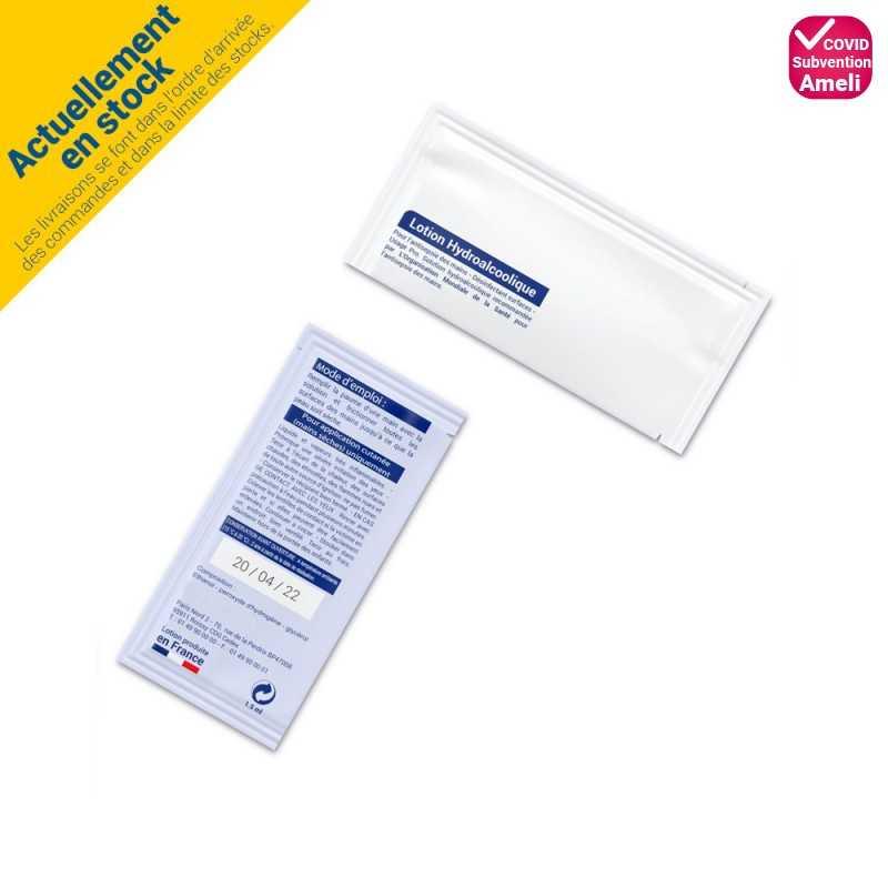 Sachet de lotion hydroalcoolique 1,5 mL
