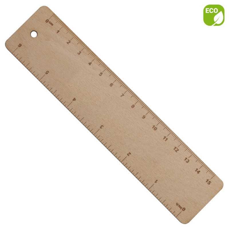 Règle personnalisée en bois