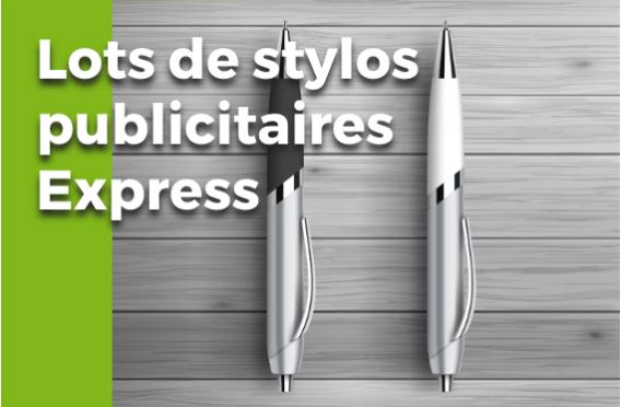 Lots de Stylos Publicitaires Express
