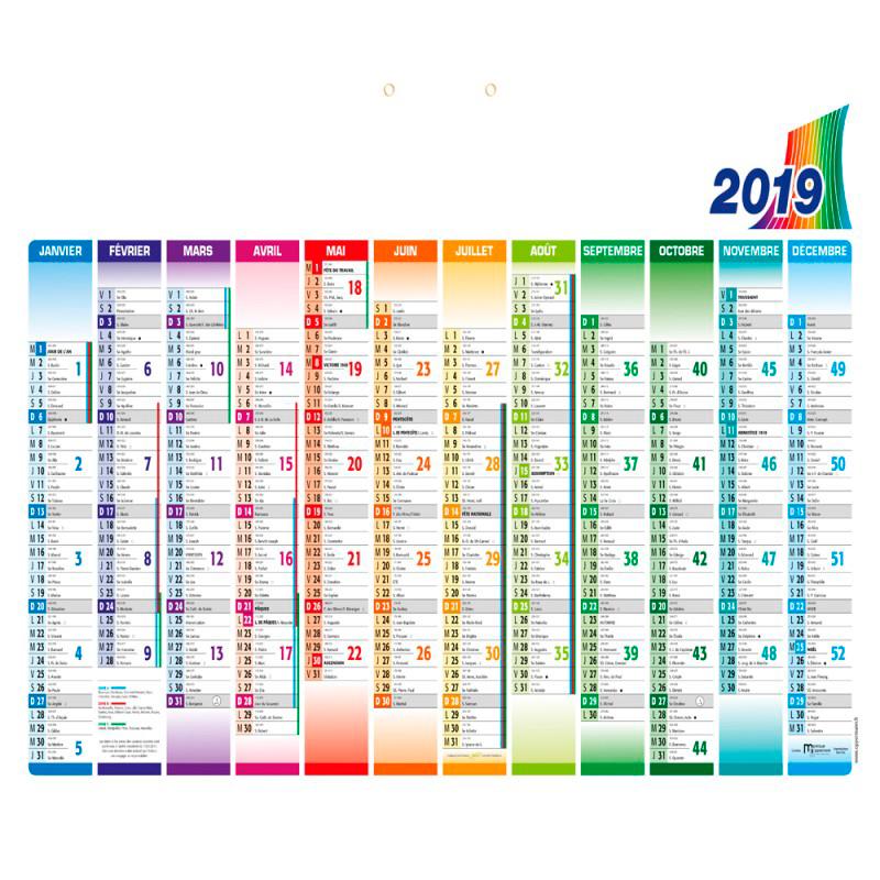 Un calendrier publicitaire 2019