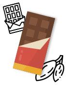 Illustration des chocolats personnalisés
