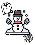 Illustration objets publicitaires pour l'hiver