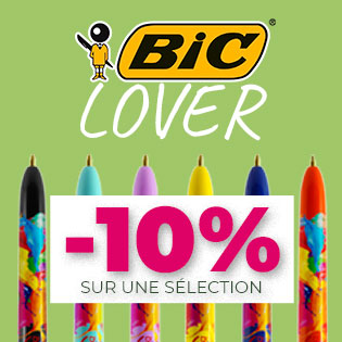 Bic Lover -10% sur une sélection de stylo Bic