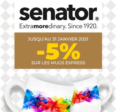 Sélection de mugs publicitaires Senator en promotion