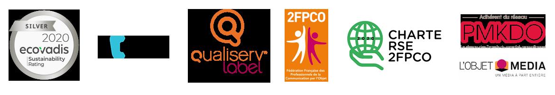 Label Ecovadis - Acesia - Certification Afnor - Label Qualiserv et autres partenaires
