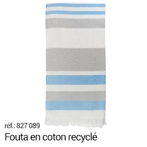 Fouta en matière recyclée