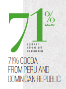 71% de chocolat