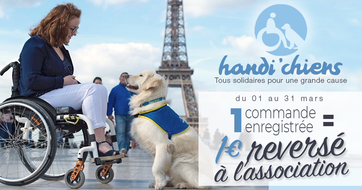 "Manrique Oppermann soutient l""association Handi'Chiens"