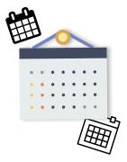 Illustration des calendriers publicitaires