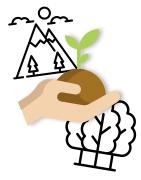 Illustration des objets publicitaires écologiques et éthiques