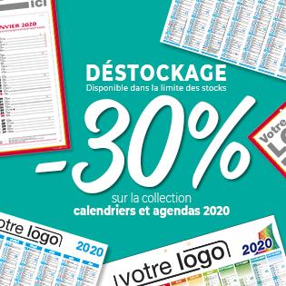 -30% sur notre collection calendriers et agendas 2020