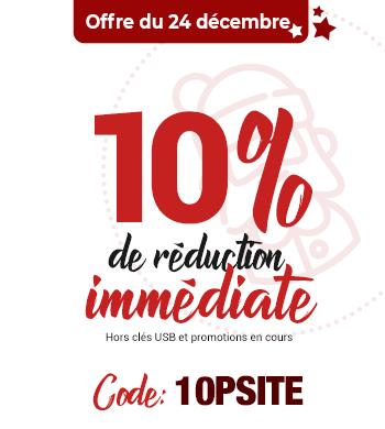 10% de réduction immédiate sur votre commande