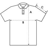 Tableau de tailles pour polo