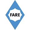 Logo de la marque de parapluies publicitaires Fare